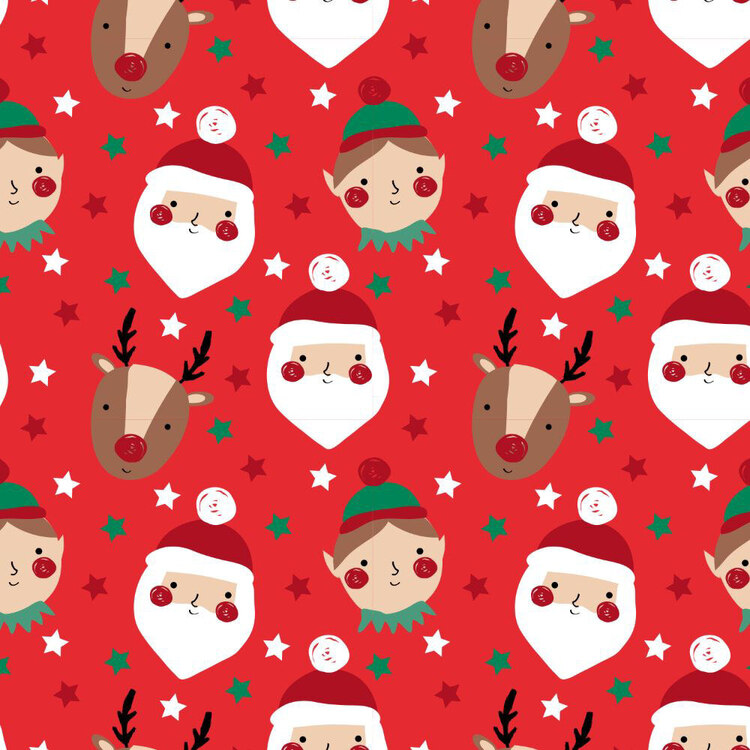 Jolly & Joy Santa Kids Gift Wrap