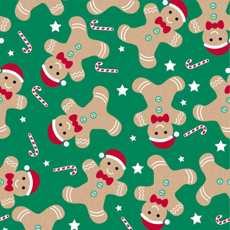 Jolly & Joy Gingerbread Kids Gift Wrap