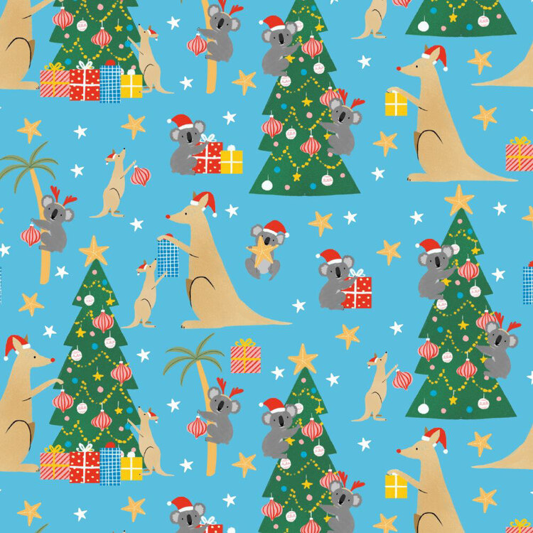 Jolly & Joy Kangaroo Kids Gift Wrap