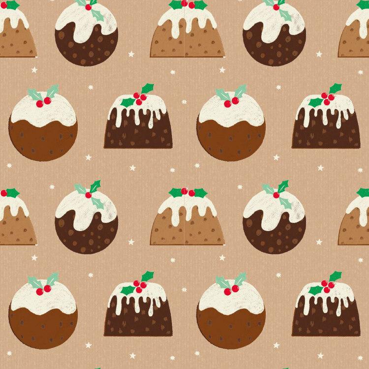 Jolly & Joy Pudding Kraft Wrap