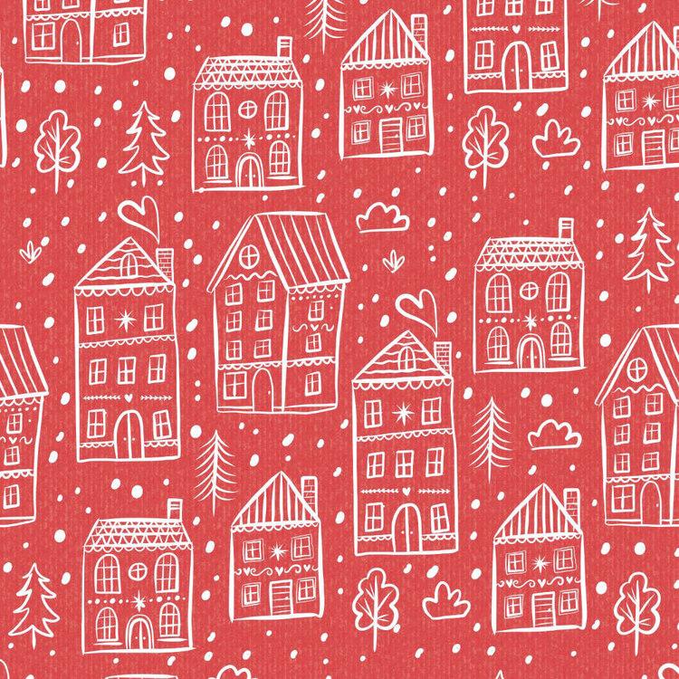Jolly & Joy House Kraft Wrap