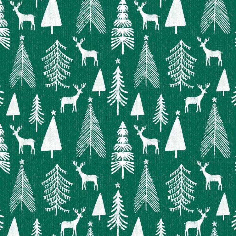 Jolly & Joy Reindeer Kraft Wrap