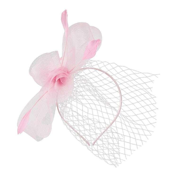 Maria George Crinoline Side Loops Floral Veil Fascinator