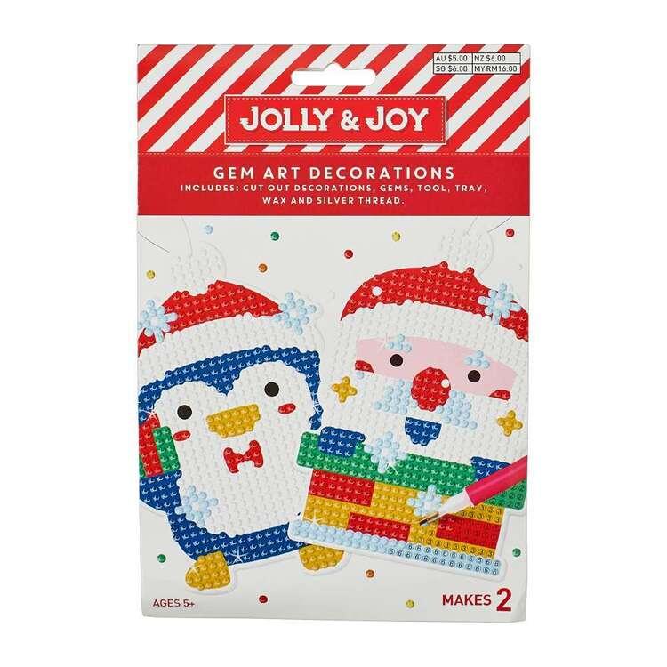 Jolly & Joy Santa Penguin Gem Art Decoration Kit