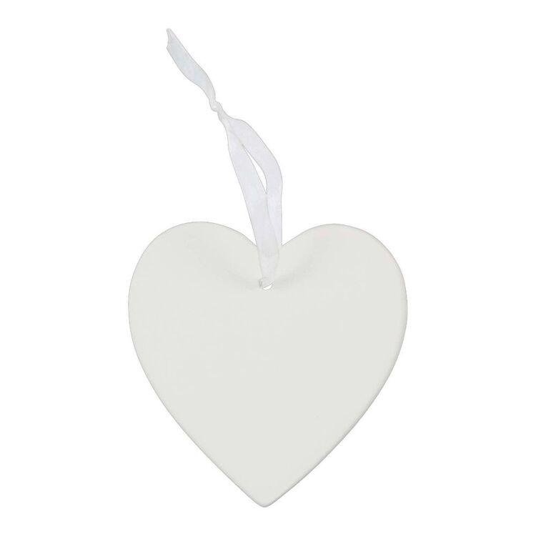 Jolly & Joy Ceramic Heart Decoration 2 Pack