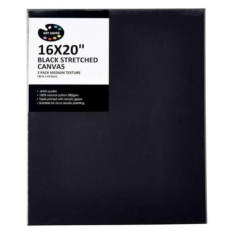 Art Saver 2 Pack Black Canvas