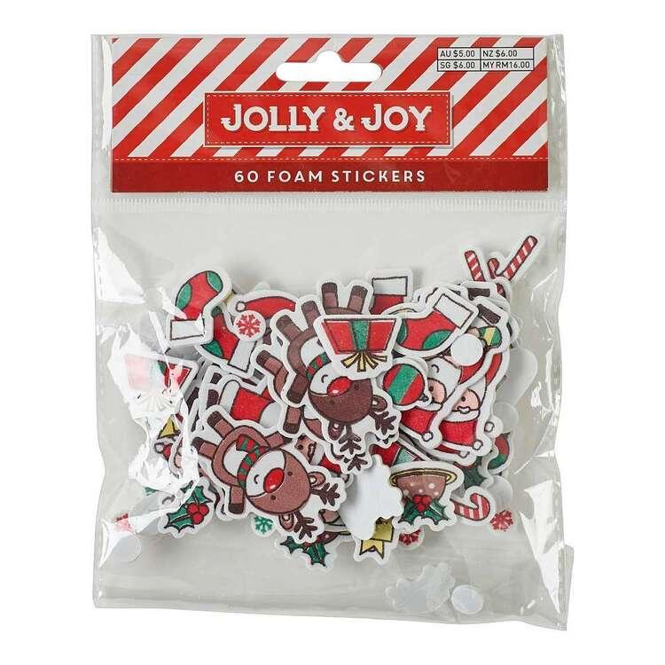 Jolly & Joy Santa Foam Stickers 60 Pack