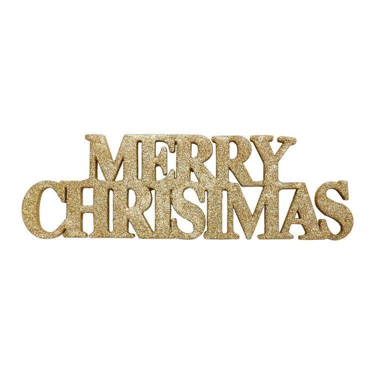 Jolly & Joy Glitter Merry Christmas Decoration