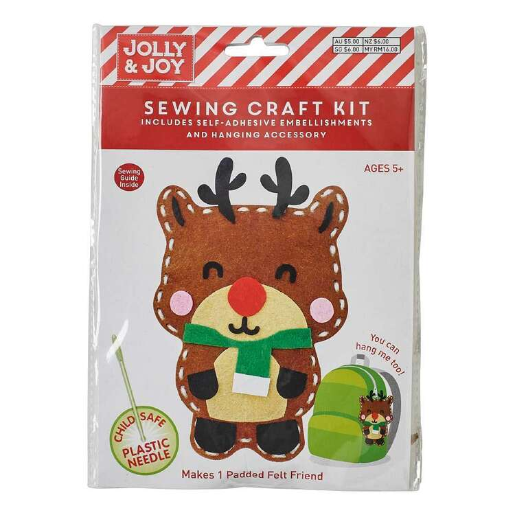 Jolly & Joy Reindeer Felt Friends Sewing Kit