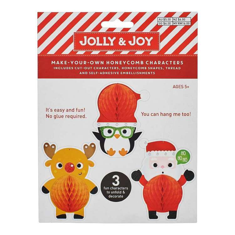Jolly & Joy Make Your Honeycomb Character 3 Pack