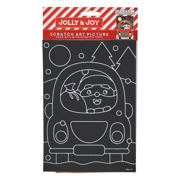 Jolly & Joy Christmas Scratch Art 4 Pack