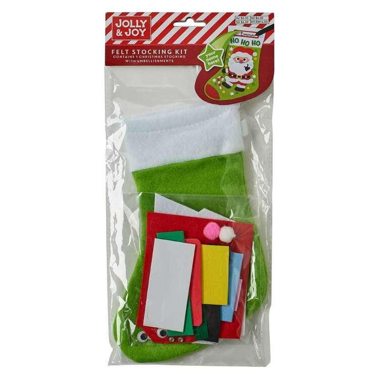 Jolly & Joy Santa Felt Stocking Kit