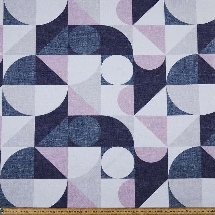 Geo Check 150 cm Cotton Canvas Fabric