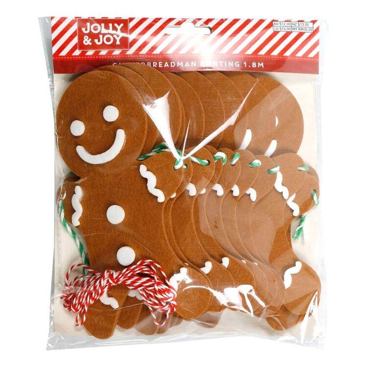 Jolly & Joy Gingerbread Man Bunting