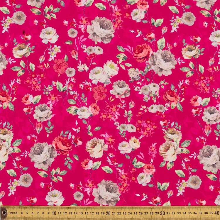 Floral G2 Printed 140 cm Torino Luxe Crepe Fabric