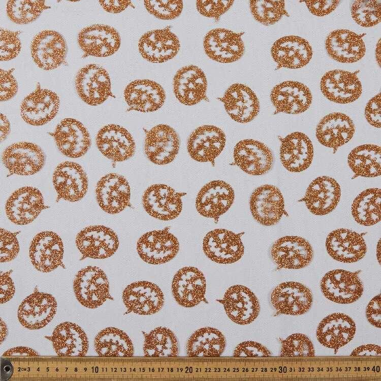 Pumpkins Printed 150 cm Spooky Net Fabric