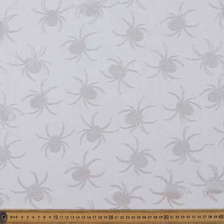 Spiders Printed 150 cm Spooky Net Fabric