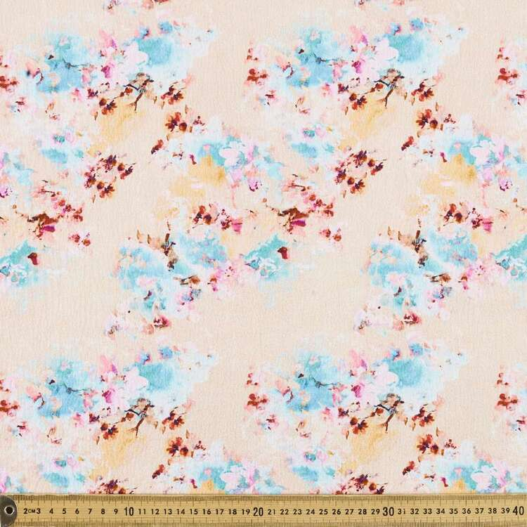 Floral G1 Printed 140 cm Torino Luxe Crepe Fabric