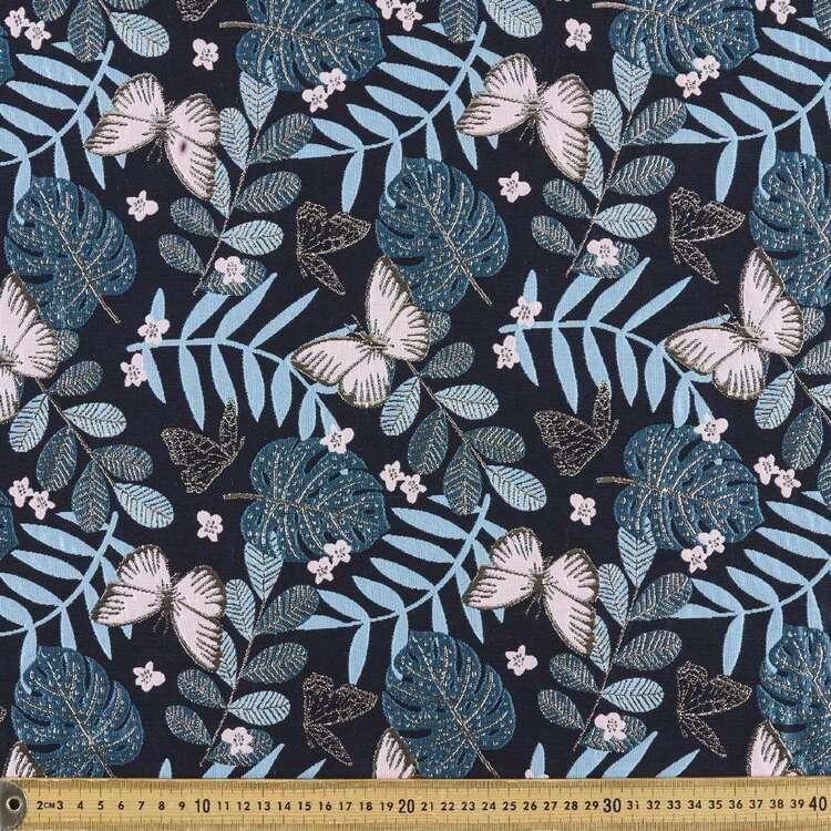Floral Printed 145 cm Brocade Fabric