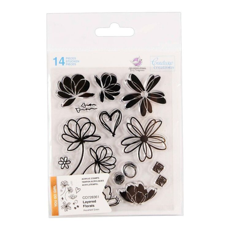 Couture Creation You Go Girl Layered Florals Stamp Set