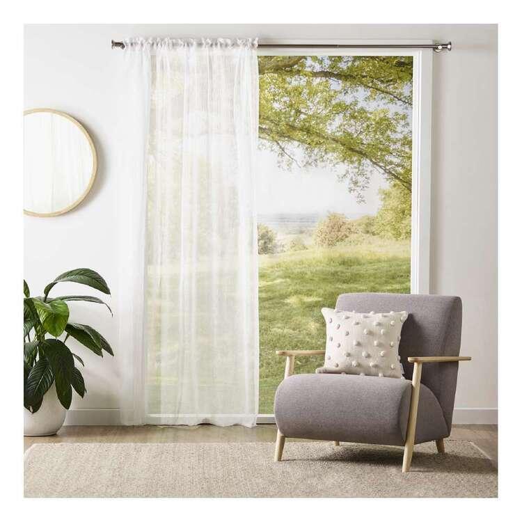 Brampton House Fern Sheer Rod Pocket Curtain