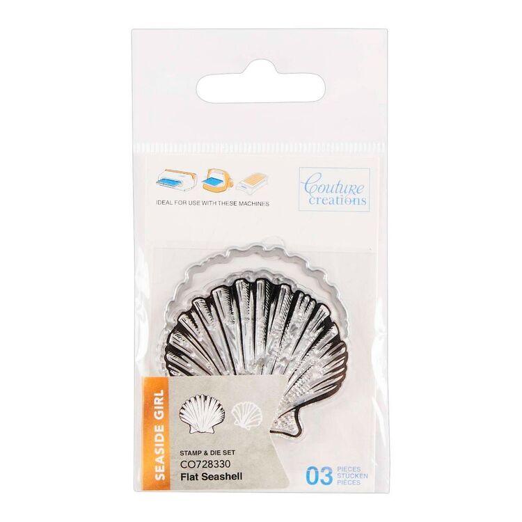 Couture Creation Seaside Girl Flat Seashell Mini Stamp & Die Set