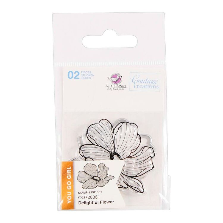 Couture Creation You Go Girl Mini Delightful Flower Stamp & Die Set