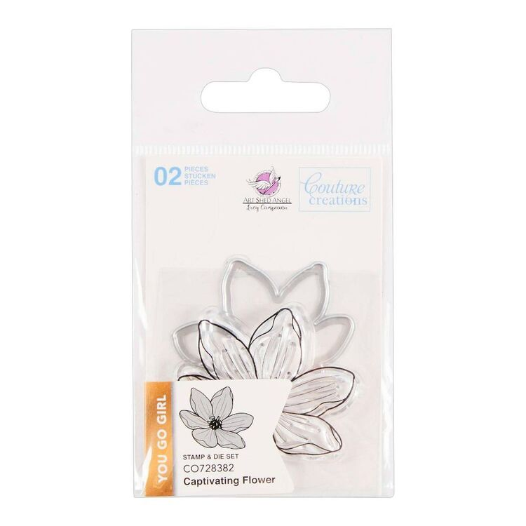Couture Creation You Go Girl Mini Captivating Flower Stamp & Die Set
