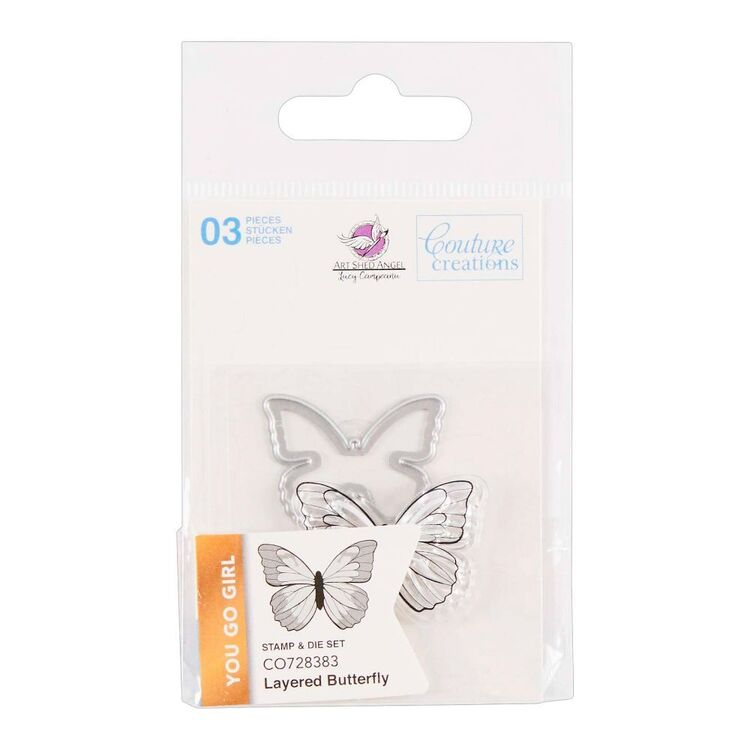 Couture Creation You Go Girl Mini Layered Butterfly Stamp & Die Set