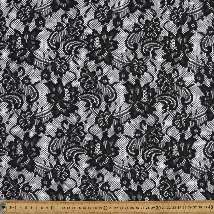 Plain 150 cm Knitted Lace Fabric
