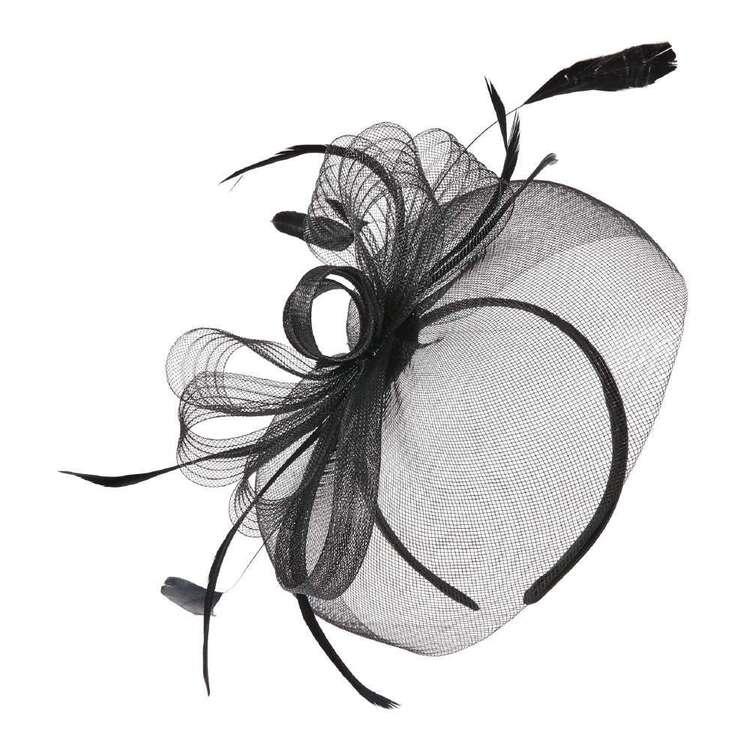 Maria George Loops & Feathers Crinoline Saucer Fascinator