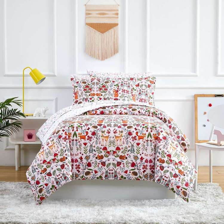 Kids House Enchanted Washed Cotton Quilt Cover Set