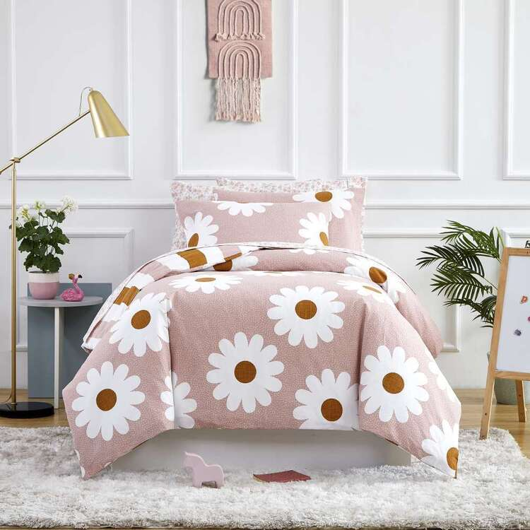 Kids House Daisy Washed Cotton Quilt Cover Set