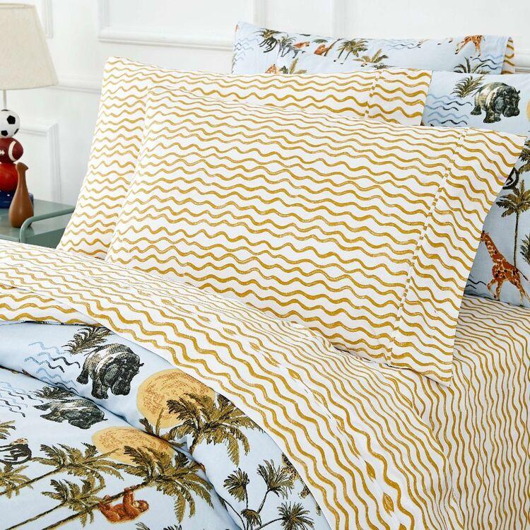 Kids House Jungle Washed Cotton Sheet Set