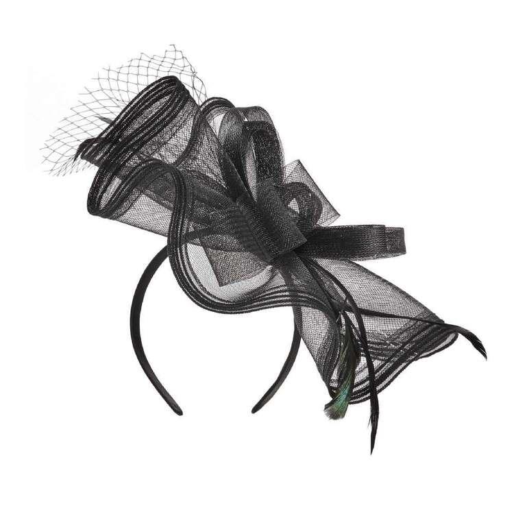 Maria George Thin Stripe Crinoline Fascinator
