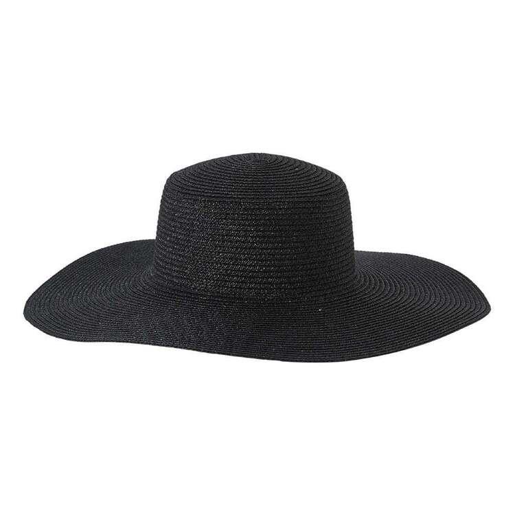 Maria George Metallic Weave Wide Brim Hat