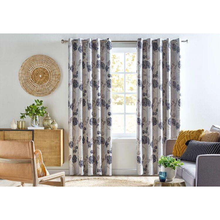 KOO Fleur Triple Weave Eyelet Curtains