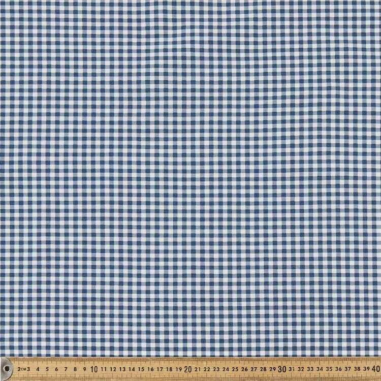 Gingham Check Printed 145 cm Bengaline Fabric