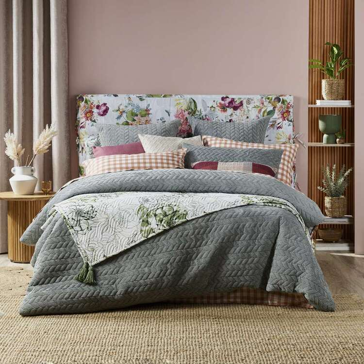KOO Hazel Cord Quilted Quilt Cover Set