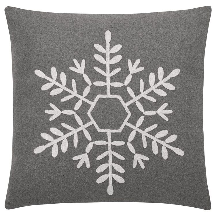 Bouclair Frosty Moments Delois Cushion