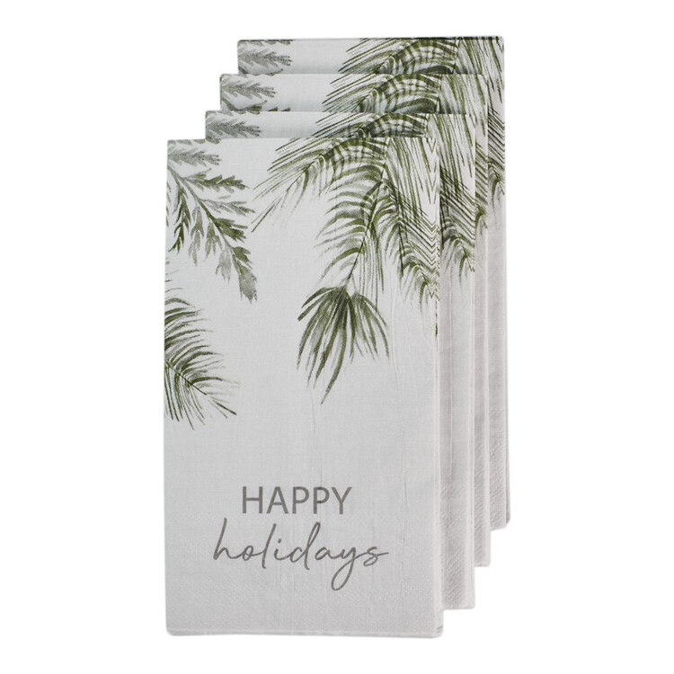 Bouclair Winter Memories 20 Pack Happy Holiday Napkins