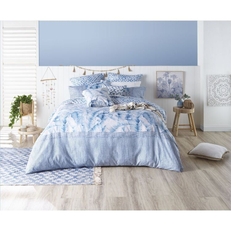 Ombre Home Weathered Coastal Palm Quilt Cover Set