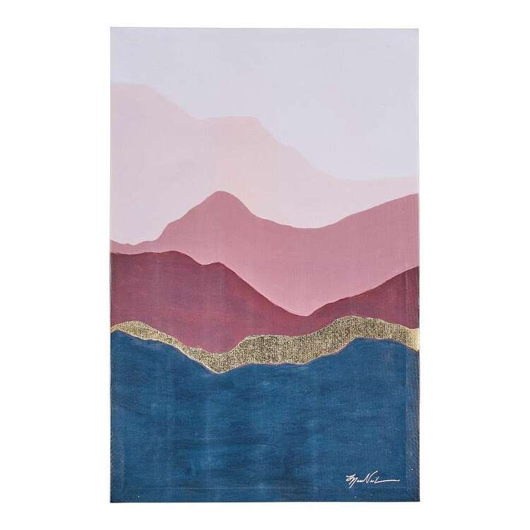 Mountains Canvas Wall Art With Gold Foil