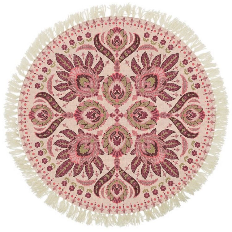 Ombre Home Bohemian Bliss Round Cotton Rug