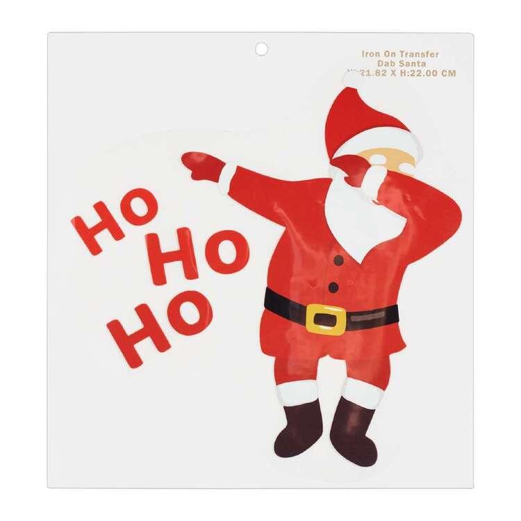Maria George Christmas Santa Dab Iron on Transfer