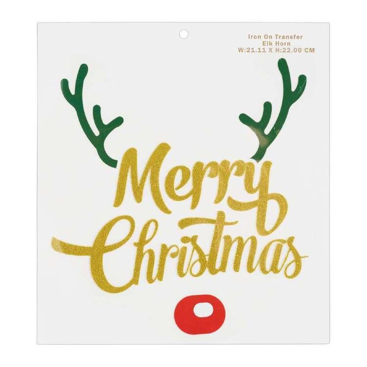 Maria George Elk Horn Christmas Iron on Transfer