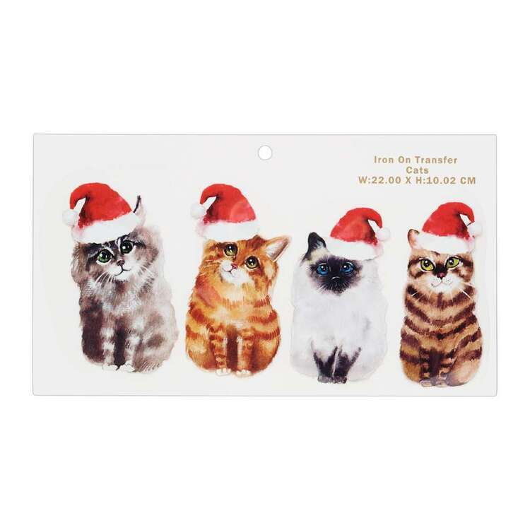 Maria George Christmas Cats Iron on Transfer