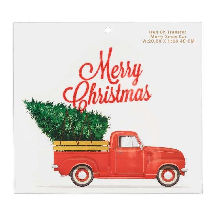 Maria George Merry Christmas Car Iron on Transfer