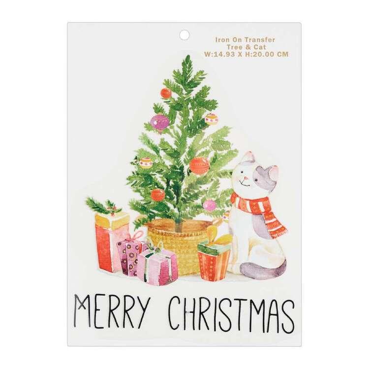 Maria George Christmas Tree & Cat Iron on Transfer