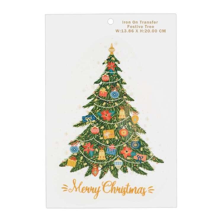 Maria George Festive Christmas Tree Iron on Transfer